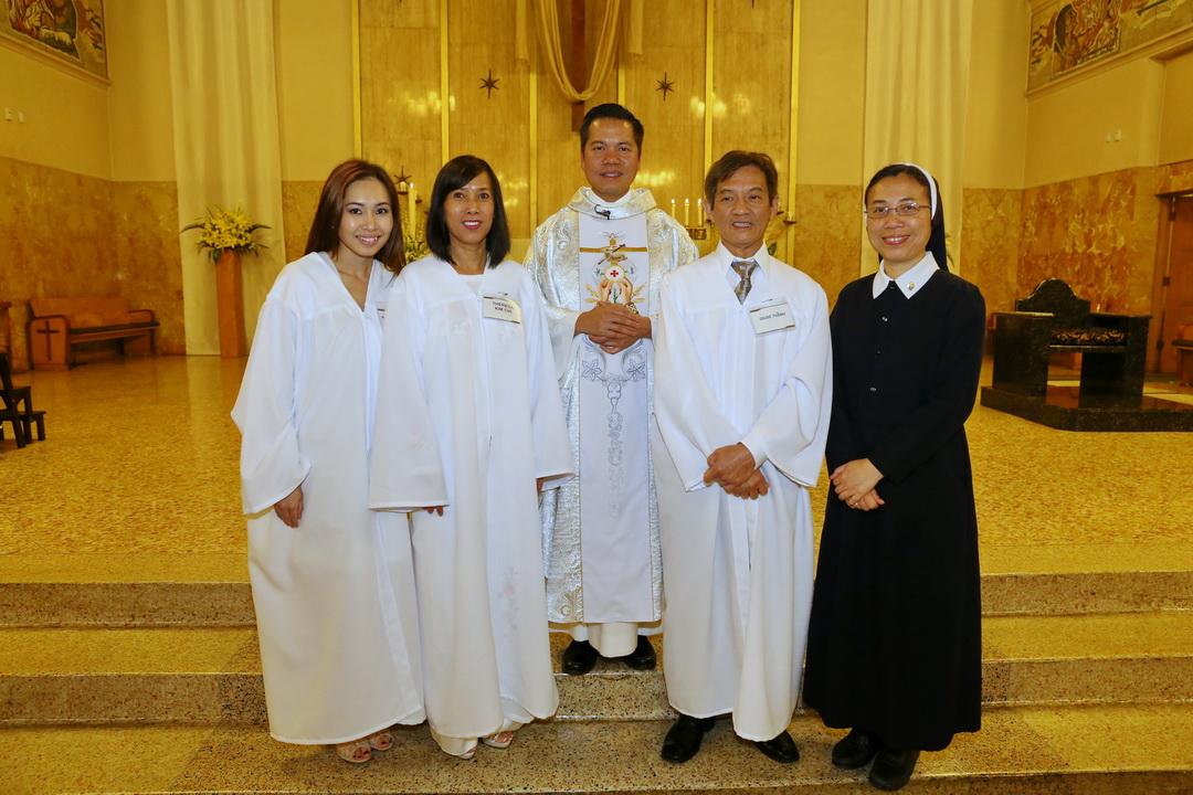 Chúc Mừng các Anh Chị Tân Tòng, Khóa 2014.  20 April 2014