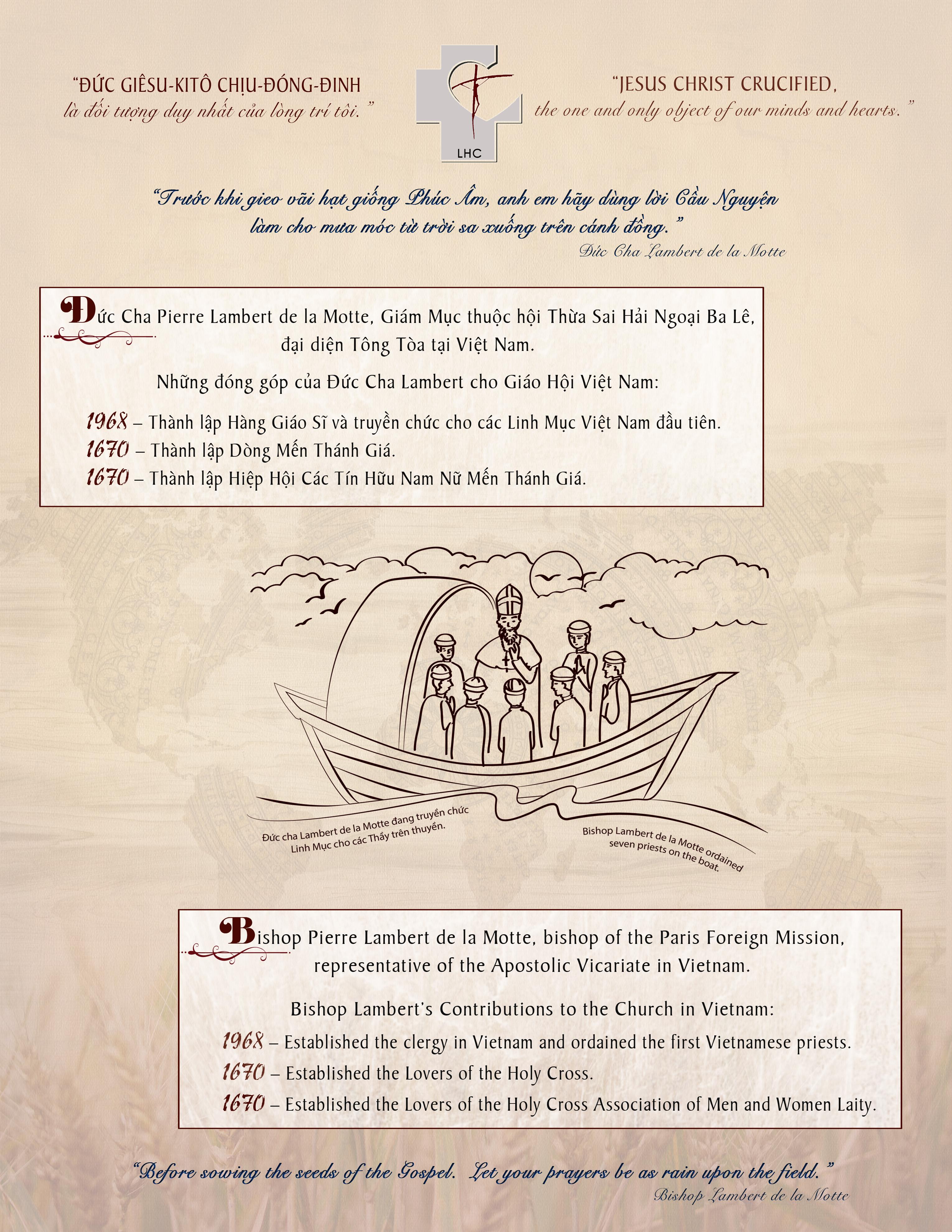 THỨ BẢY 14 SEPT: DÒNG MẾN THÁNH GÍA KỶ NIỆM 350 LẬP DÒNG: XIN KÍNH MỜI