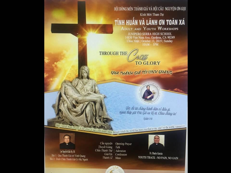 HỌC HỎI và TĨNH HUẤN ĐỨC TIN trong Tháng 10 và còn lại trong Năm Thánh 2019.