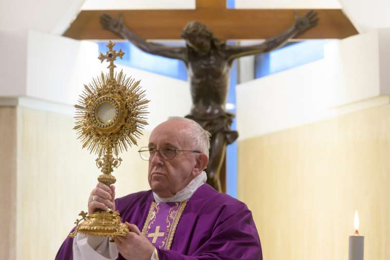 Pope Francis offers this spiritual communion prayer during coronavirus pandemic