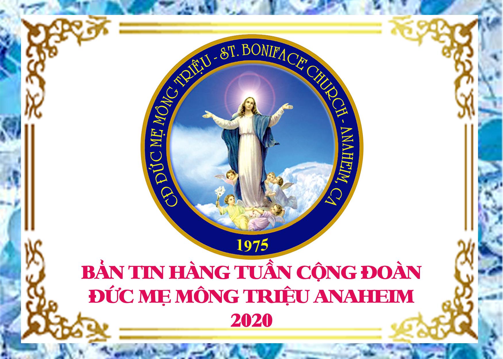 Bản Tin Cộng Đoàn Đức Mẹ Mông Triệu Anaheim 31-5-2020
