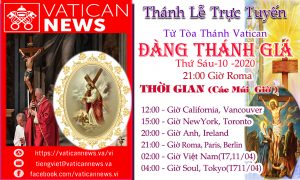 THÁNH LỄ ĐÀNG THÁNH GIÁ TRỰC TUYẾN TỪ VATICAN THỨ SÁU 10-4-2020