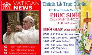 THÁNH LỄ PHỤC SINH TRỰC TUYẾN TỪ VATICAN CHÚA NHẬT 12-4-2020
