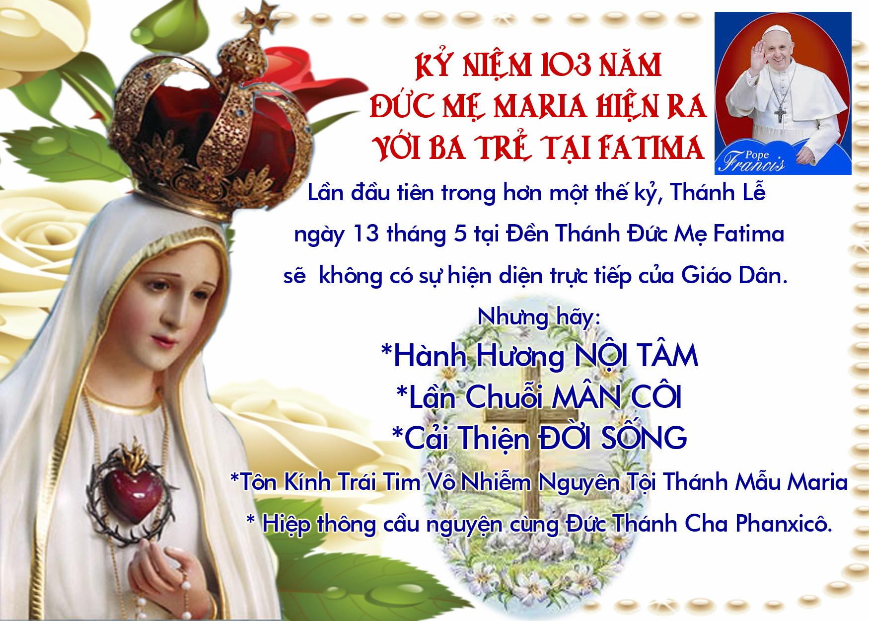 Lần đầu tiên trong một thế kỷ, Thánh lễ ngày 13/05 tại Fatima sẽ không có giáo dân tham dự