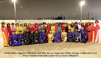Linh Đài Đức Mẹ La Vang trong khuôn viên Chính Tòa Giáo Phận Orange California